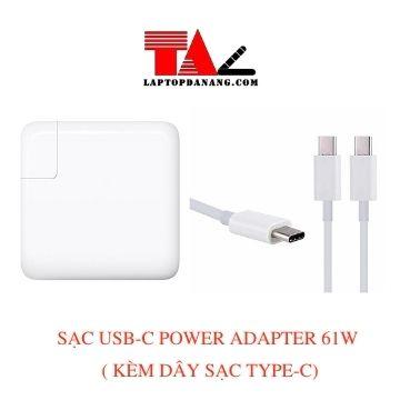 sạc macbook type-c - usb-c-power adapter 61w (kèm dây sạc type-c)