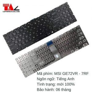 Bàn Phím Laptop MSI GE72VR-7RF