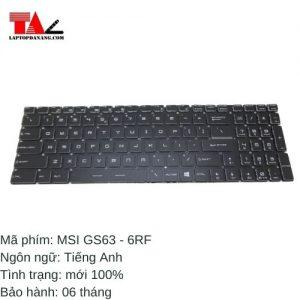 Bàn Phím Laptop MSI GS63-6RF