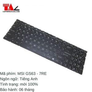 Bàn Phím Laptop MSI GS63-7RE