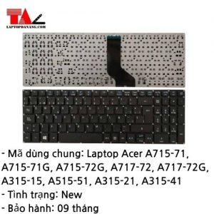 Bàn Phím Laptop Acer A715-71G A715-72G A717-72 A315-15 A515-51 A315-21 A315-41