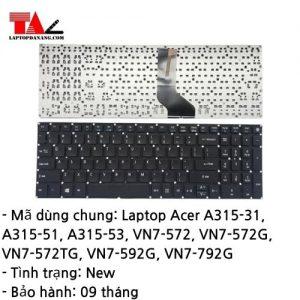 Bàn Phím Laptop Acer A315-31 A315-51 A315-53 VN7-572 VN7-592G VN7-792G