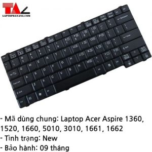 Bàn Phím Laptop Acer Aspire 1360 1520 1660 1661 1662