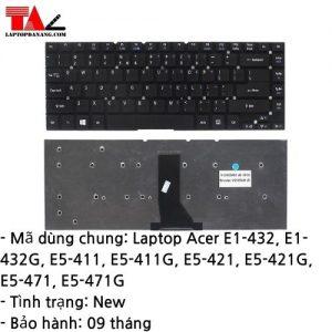 Bàn Phím Laptop Acer E1-432 E5-411 E5-421 E5-471