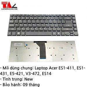 Bàn Phím Laptop Acer ES1-411 ES1-431 E5-421 V3-472 ES14