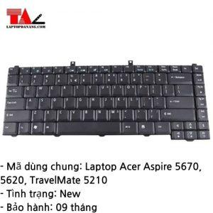 Bàn Phím Laptop Acer Aspire 5670 5620 Travelmate 5210