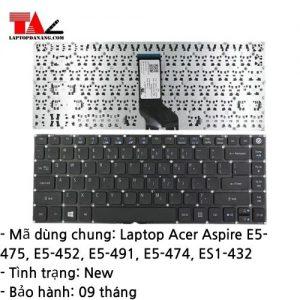Bàn Phím Laptop Acer Aspire E5-475 E5-452 E5-491 E5-474 ES1-432