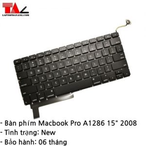 """Bàn Phím Macbook Pro A1286 15"""" (2008)"""