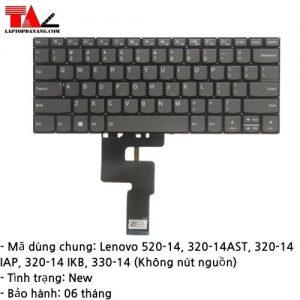 Bàn Phím Laptop Lenovo 520-14 330-14 Không Nút Nguồn