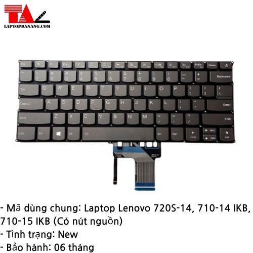 Bàn Phím Laptop Lenovo 720S-14 710-14IKB 710-15IKB Có Nút Nguồn